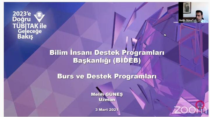 """""""TÜBİTAK BİDEB Lisans ve Lisansüstü Burs ve Destek Programları"""" Bilgilendirme Semineri"""
