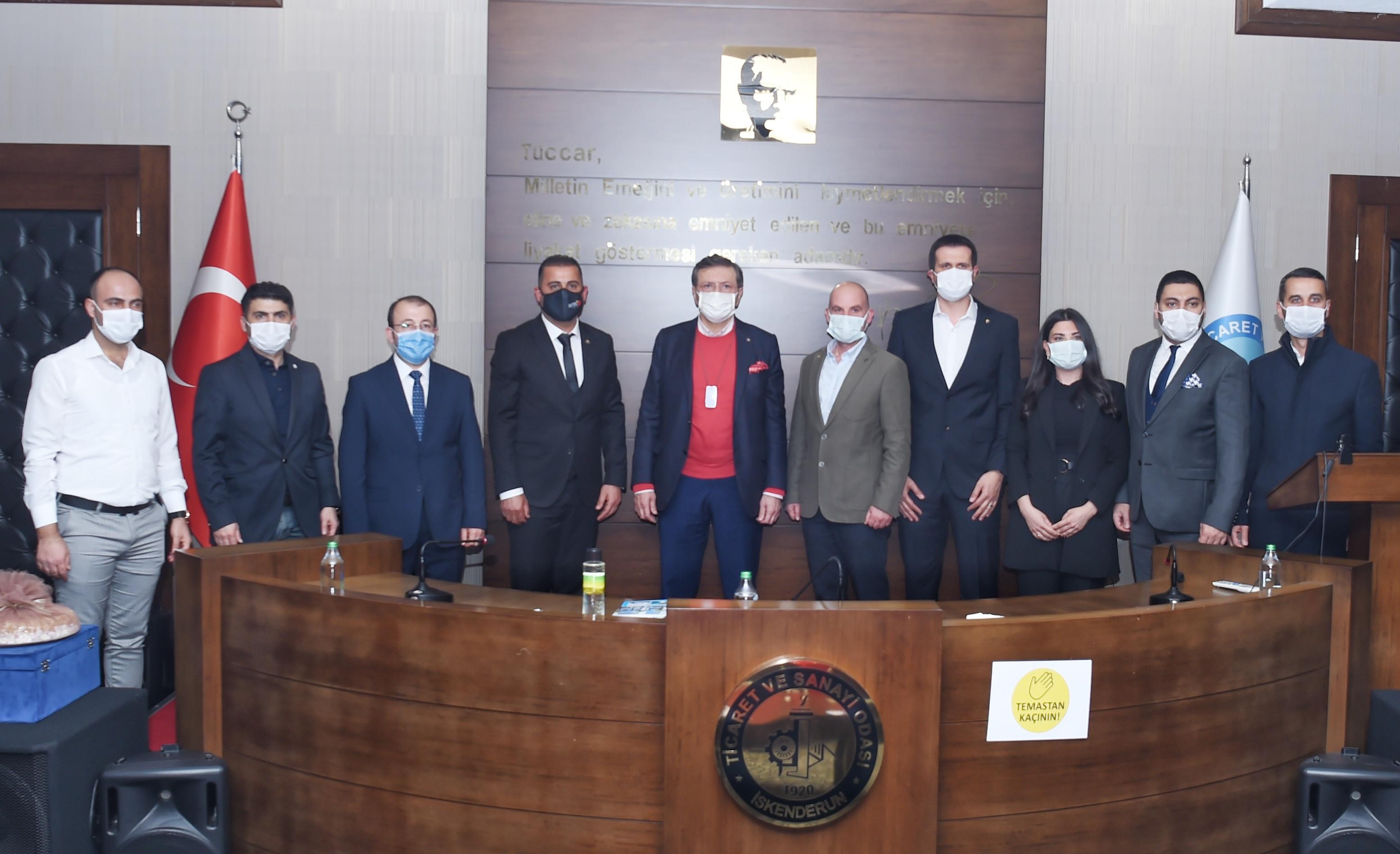 Türkiye Odalar ve Borsalar Birliği (TOBB) BaşkanıM. Rifat Hisarcıklıoğlu Ziyareti
